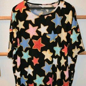 LuLaRoe Multi-Colored Star Sugar Cookies Irma MD